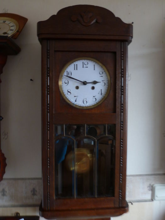 Cabinet clock – oak – Junghans - from the 1920s-1930s