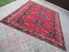 Genuine Hand Knotted Persian Shiraz Rug 294 x 213 cm