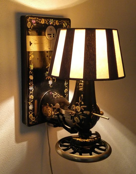 Lewenstein Dürkopp - Antique Sewing Machine - Wall Lamp Lighting - 1920s - Germany