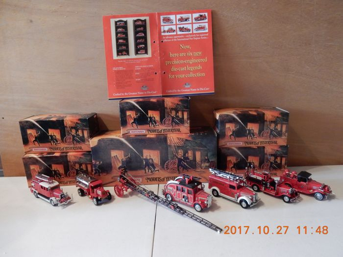 Matchbox Models of Yesteryear - Scale 1/43 - Lot with 6 models: YFE 07 to YFE 12 - The Fire Department Collection series 2