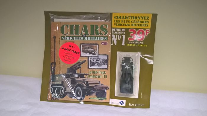 """EXCEPTIONNEL : COMPLETE HACHETTE/SOLIDO COLLECTION  """"Chars et véhicules militaires"""" - 130 issues (miniature with box + booklet ) perfectly new, issued between August 2001 and August 2006"""