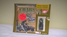 "EXCEPTIONNEL : COMPLETE HACHETTE/SOLIDO COLLECTION  ""Chars et véhicules militaires"" - 130 issues (miniature with box + booklet ) perfectly new, issued between August 2001 and August 2006"