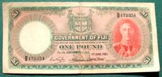Fiji - 1 pound 1-6-1951 - Pick 40f