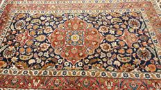 Beautiful old Persian hand knoted Tabriz carpet 250,000 knots per sq. meter, with attractive natural colours (vegetable dyes) 230 cmX146 cm, from + - 1960