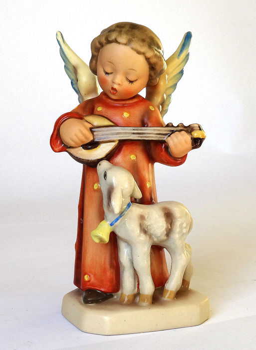 Early Hummel Goebel - No. 83. - Fromme Weisen/Angel Serenade - RARE INCISED CROWN + Full Bee