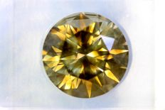 Fancy DEEP Yellowish GREEN - 4.12 ct - SI1 - Excellent Cut