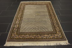 Wonderful handwoven oriental carpet Sarouk Mir 125 x 180 cm made in India Tappeto Tapis Tapijt