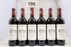 2001, Chateau La Gurgue, Margaux, France, 6 Bottles.