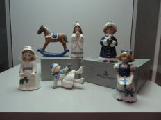6x Royal Copenhagen Figurines