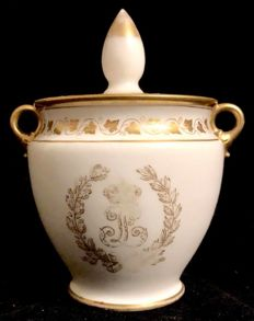 Manufacture Nationale de Sèvres - 19th Century Sugar Pot from the Royal Service of  Louis Philippe I