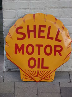 Enamel Shell sign, shell 45 x 45 Motor Oil - reproduction from the last quarter of the 20th century