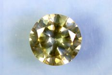 Fancy Deep Yellowish Green - 1.01 ct - SI2 - * NO RESERVE PRICE *
