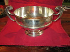 Silver fruit bowl curled handles James Deakin and Sons Sheffield 1901