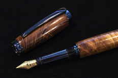 The Dracula Pen - Limited Edition Authenticated Laburnum Wood (1697) taken from St Mary's Church, Whitby, England.