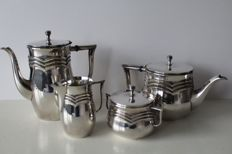 WMF - Art Deco majestic coffee and tea set, silver plated
