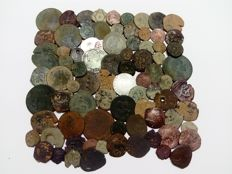Spain - Lot of 80 coins - 15th to 19th centuries - The Catholic Monarchs, Habsburgs, Maravedis, etc..
