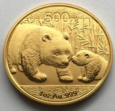 China – 500 Yuan 2011 'Panda' – 1 oz gold