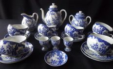 "Antique blue - white tea set - Marked ""Dai Nippon"" - around 1920-1930"
