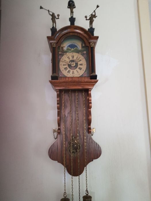 Frisian oak grandfather clock c. 1950
