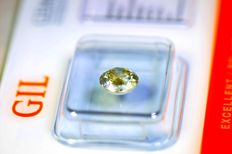 Diamant van 1.15 ct  – Fancy Greenish Yellow