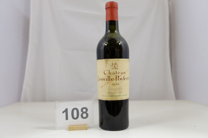 1936 Chateau Leoville Poyferre, Saint-Julien, Deuxieme Grand Cru Classe, France, 1 Bottle.