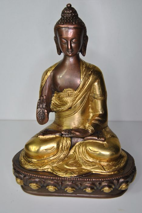 Bronze Shakyamuni Buddha – Nepal/Tibet – late 20th/early 21st century