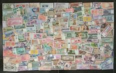 World - Collection of 175 banknotes from all over the world. All different.