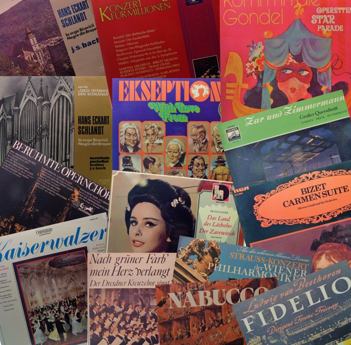 Lot 14 LP's of classical music - originals from the 50s / 60s / 70s