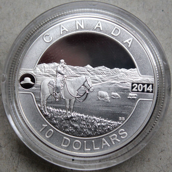 Canada - 10 Dollars 2013 'The Canadian Cowboy' - silver
