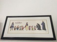 Disney, Walt - Serigraph cel - Snow White and the Seven Dwarfs - Cast of Characters (1994)