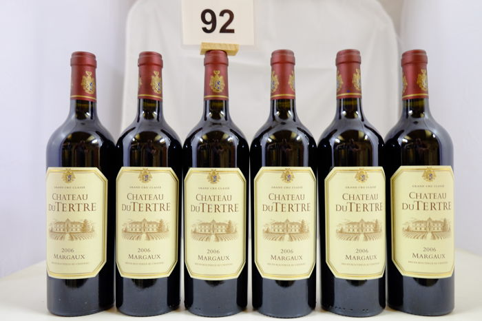 2006 Chateau du Tertre, Margaux, Cinquieme Grand Cru Classe, France - 6 Bottles.