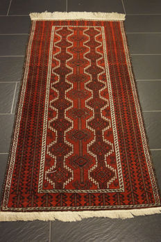 Antique hand-knotted Persian collector's carpet, Beluch rug, made in Iran, 95 x 185 cm