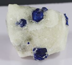 Royal Blue Lapis ( lazurite) Specimen on Matrix - 7 x 5 x 4 cm - 266 g