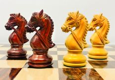 Chess set Leicester Staunton 6, weighted ebony Super luxury
