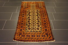 Antique hand-knotted Persian collector's carpet, Baluch, rug, made in Iran, 102 x 138 cm