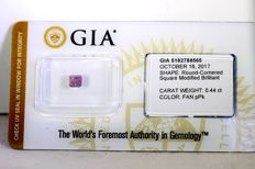 GIA Sealed Diamond - 0.44  ct - Fancy Purplish Pink - * NO RESERVE PRICE *