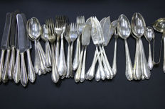 OKA Barock silver 800 silver cutlery complete set consisting of knives, spoons, forks and much more