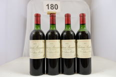 1970 Chateau Branaire-Ducru, Saint-Julien, Quatrieme Grand Cru Classe, France - 4 Bottles.