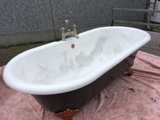 English cast iron bathtub on legs, ca. 1930