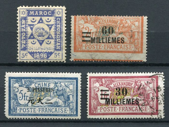 French colonies and French offices - Collection of various countries from the classical period up to the 1930s.