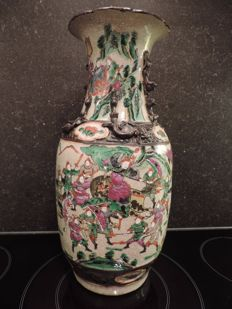 Nanking 'famille rose' vase marked on the bottom - China - end 19th century