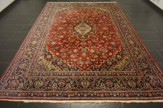 Very beautiful fine Persian palace carpet, Kashan, finest cork wool made in Iran, 240 x 335 cm, signed