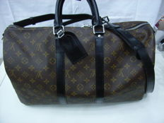 Louis Vuitton - Keepall 45 Bandoulière Monogram Macassar Canvas