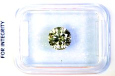 * NO RESERVE PRICE * - Diamond of 1.07 ct - Fancy Greenish Yellow - Excellent Cut