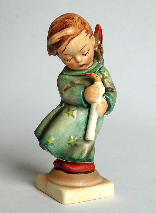 Early Hummel Goebel - nr. 21/0 - Christkindlein kommt / Heavenly Angel - RARE INCISED CROWN