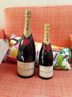 2000 Moet Chandon Brut Imperial - 1 magnum (150cl) & 1 bottle (75cl) in box