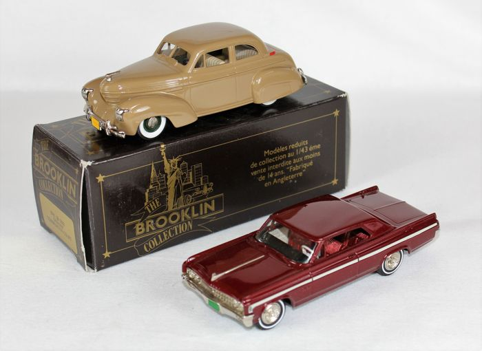Brooklin - Schaal 1/43 - 1939 Graham Combination Coupé No. BRK. 38 & 1963 Starfire hardtop Coupé No. BRK 60