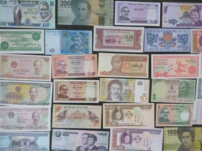World - Collection of 100 banknotes from all over the world