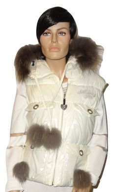 Nickelson - Great body-warmer with genuine rabbit fur, no reserve price