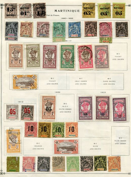 French colonies - Extended collection of various countries from the classical period up to the 1940s.